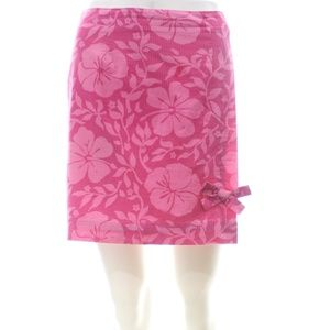 LILLY PULITZER PINK FLORAL PRINT MINI SKIER SIZE 4